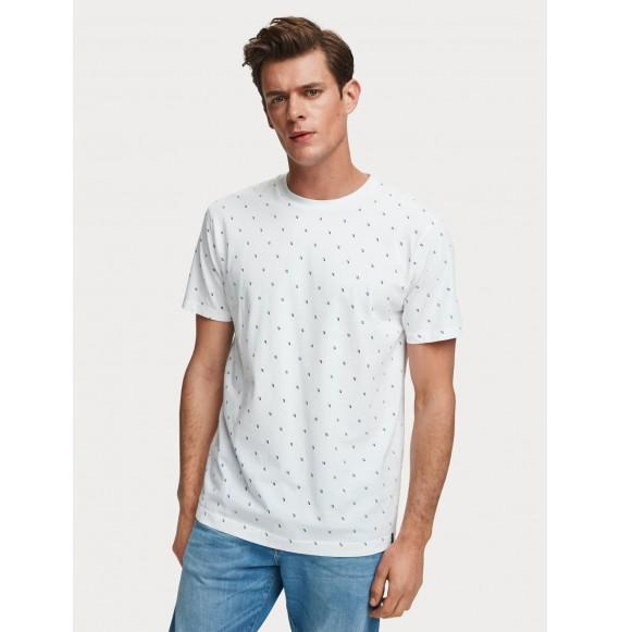 Camiseta de jersey estampada